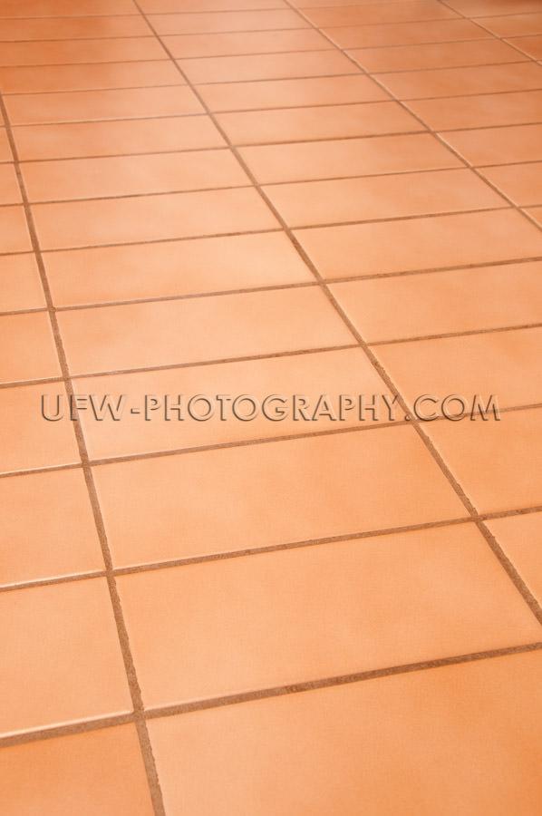 Floor rectangular terracotta tiles full frame background Stock I