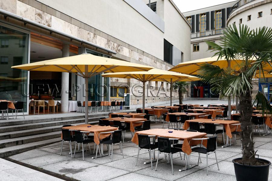 Elegant outdoors restaurant bistro sidewalk cafe patio modern ar