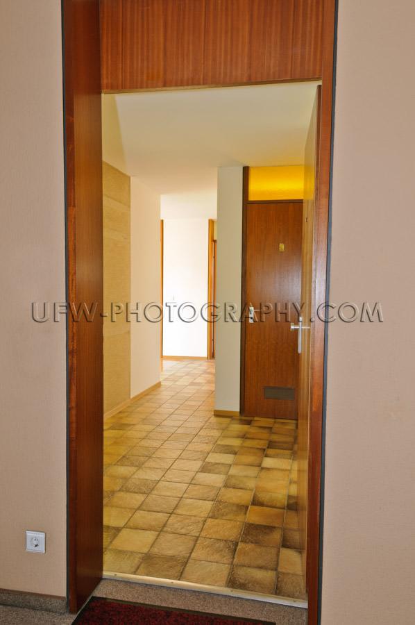 Entrance traditional apartment open door hallway Stock Image