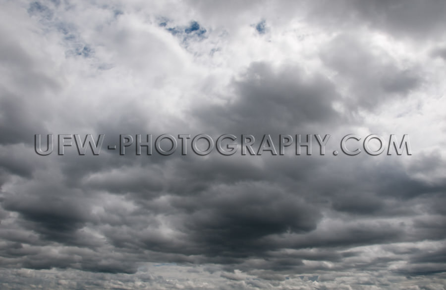 Dramatic ominous sky dark gray storm clouds Stock Image