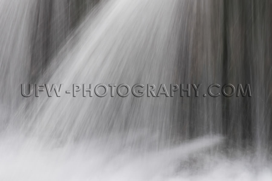 Waterfall various water jets interesting abstract pattern Stock
