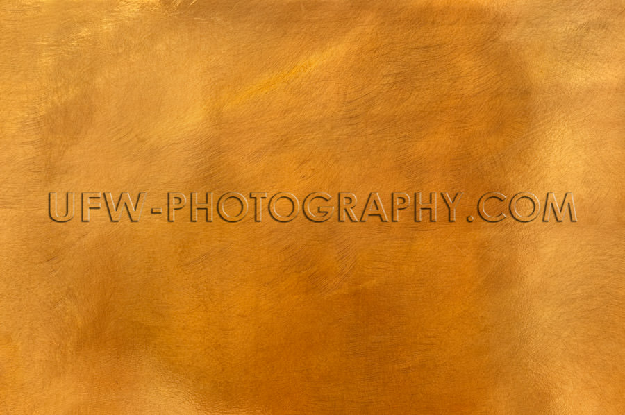 Golden brass metal plate background textured surface XL Stock Im