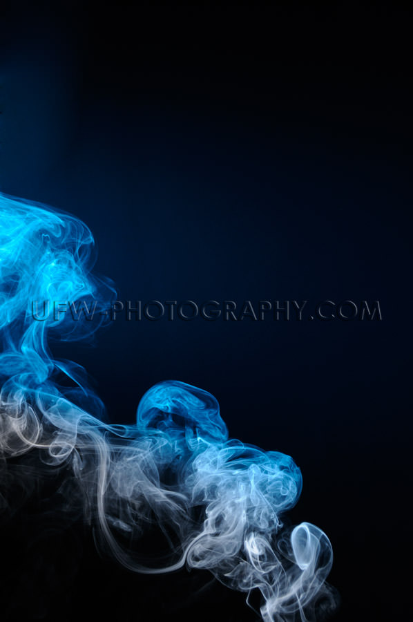 Gray blue smoke texture ascending left to right Stock Image