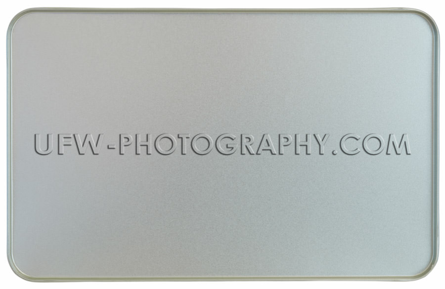 Silver sheet metal frame texture flanged edges background Stock