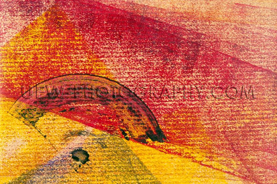 Abstrakt Rot und Gelb Gemusterter Hintergrund Querformat Stock F