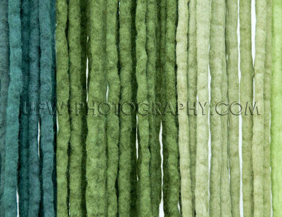 Filzbänder Blau Grün Gefärbt Vertikal Schnüre Hintergrund St
