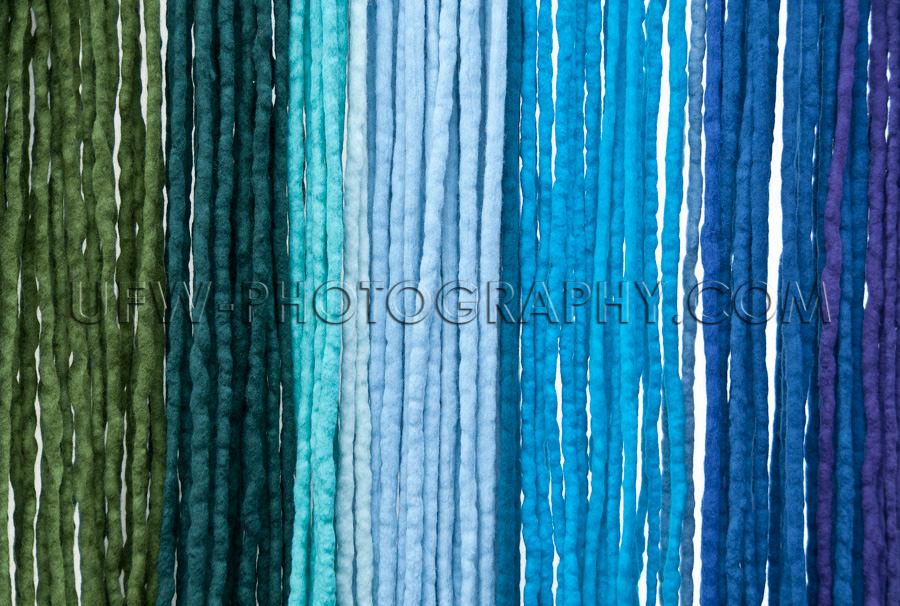 Herabhängende Filz-Farbbänder Schattierungen Von Grün Zu Blau