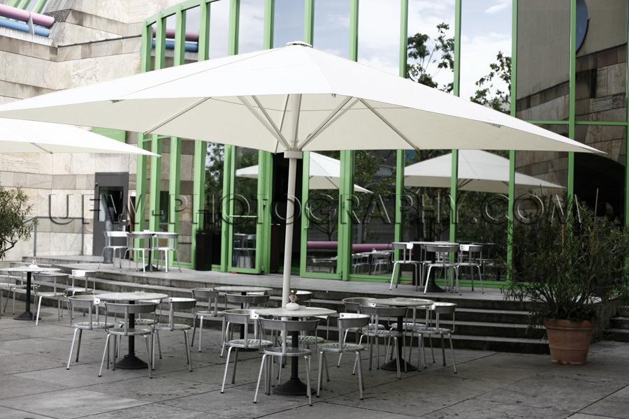 Im Freien Café Terrasse Moderne Architektur Grün Gerahmtes Fen