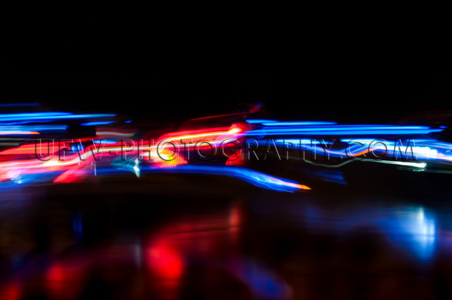 Abstrakte Lichter Bewegung Verkehr Rot Weiß Blau Bewegungsunsch