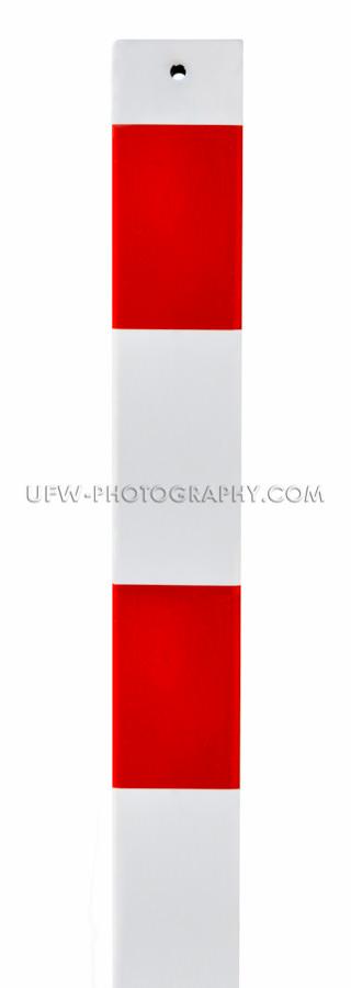 Verkehrszeichen Warnung Rot Und Weiß Metall Barriere Pfosten Is