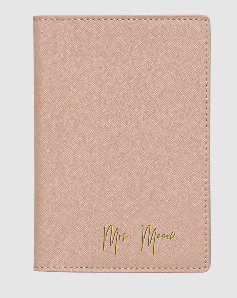 THE DAILY EDITED TAUPE PASSPORT COVER