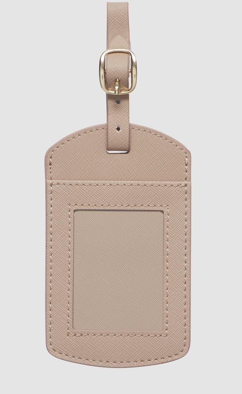THE DAILY EDITED TAUPE WINDOW LUGGAGE TAG