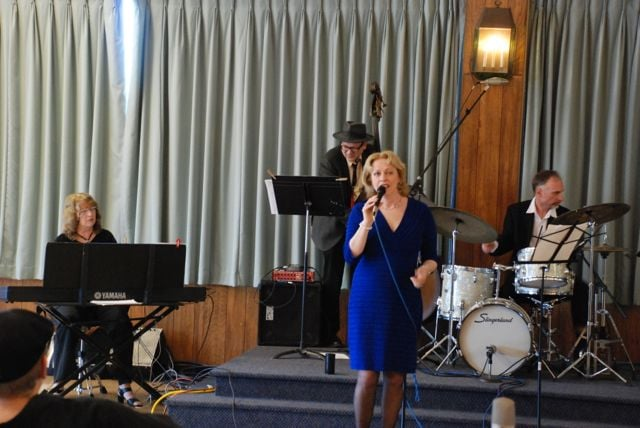 With trio at annual Albany Musicians' Union Jazz Gala, 2013