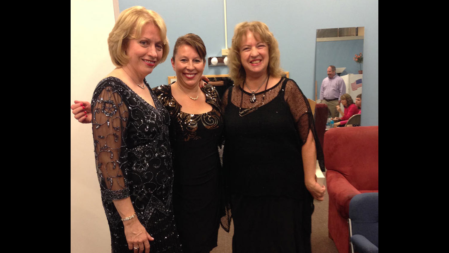 Backstage with singer Nancy Donnelly and pianist Peg Delaney before headlining a benefit concert for the Double H Ranch, Glens Falls, NY