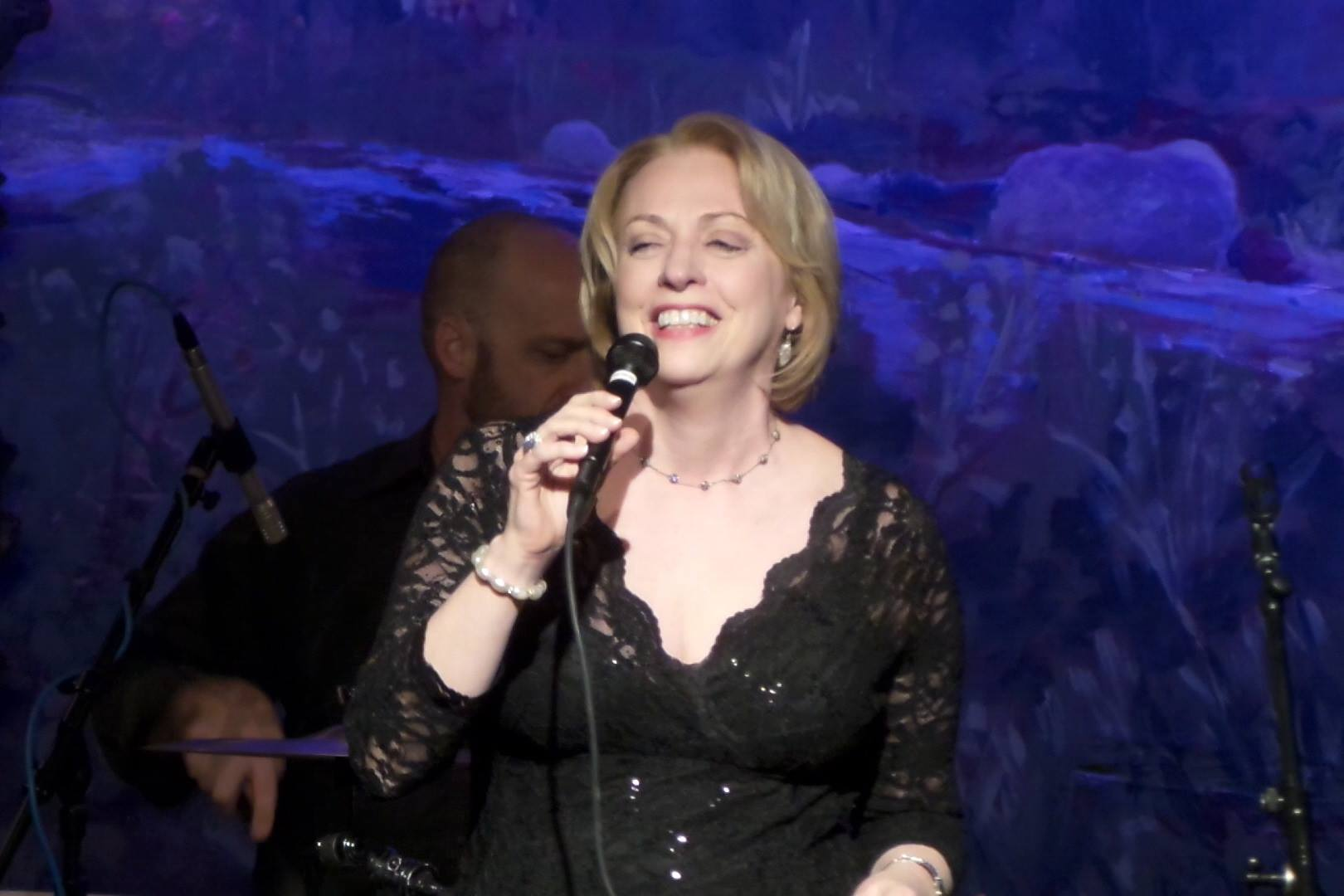 Singing at Hubbard Hall, Cambridge, NY, in an evening featuring the songs of Bob Warren