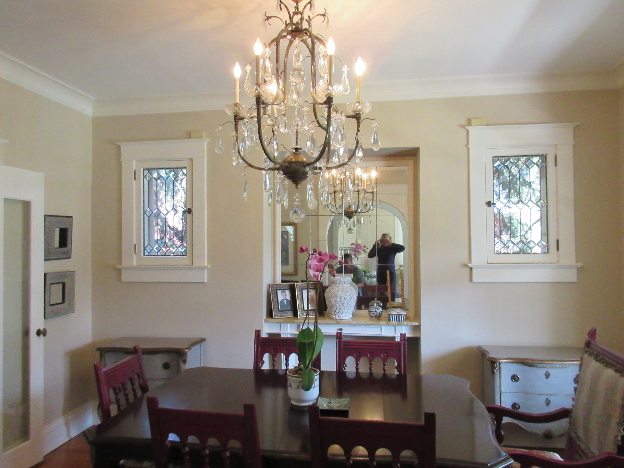 Stained glass windows dining room