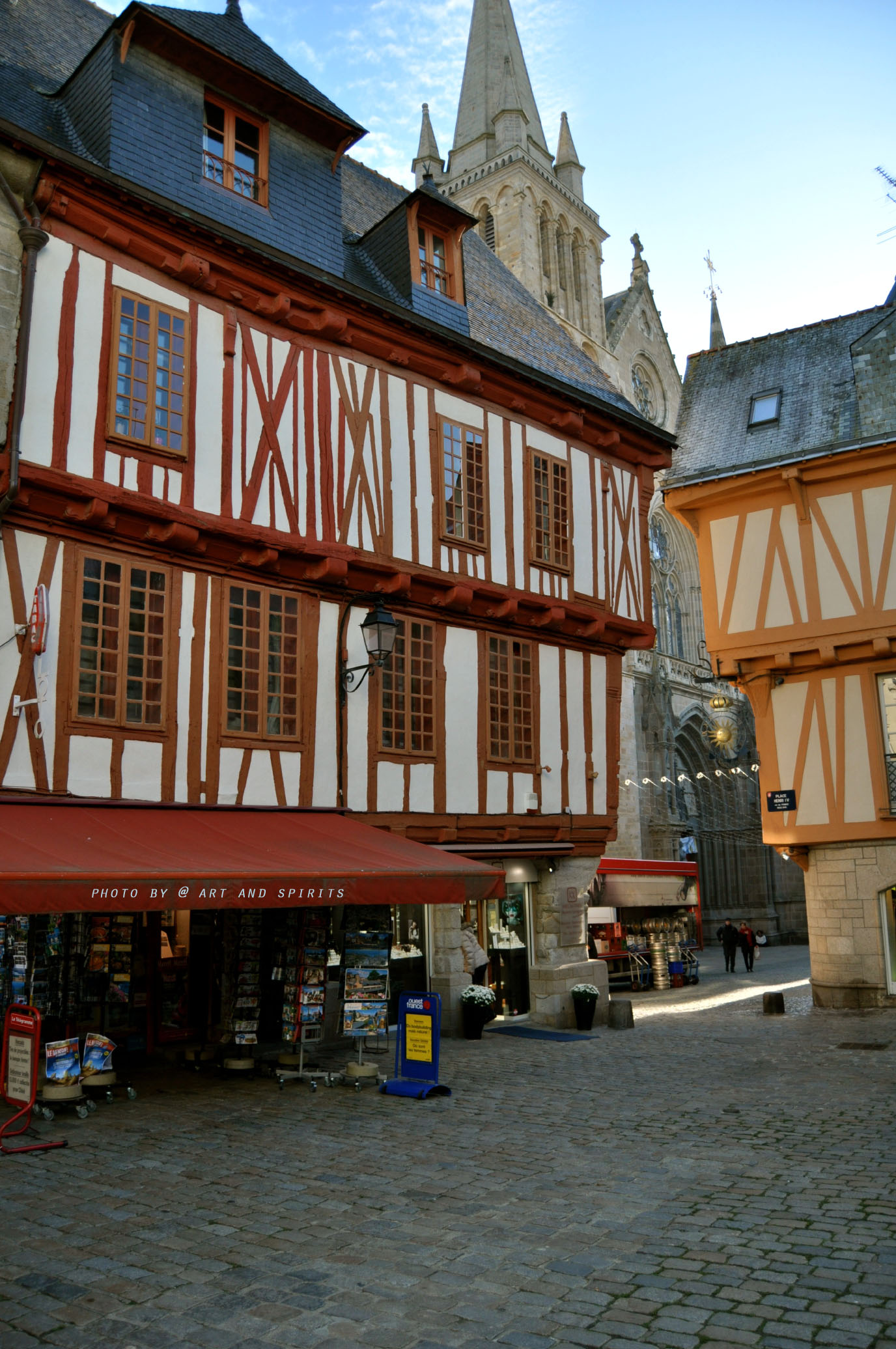 The street of Vannes, La rue de centre ville.