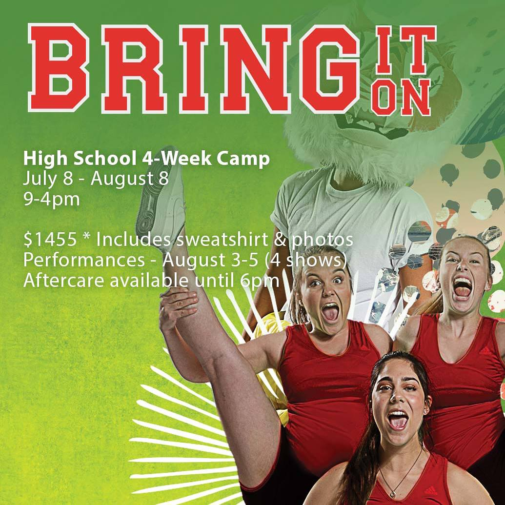 Bring It On - for those kiddos who want to challenge themselves with cheerleading, hip hop, and some stellar vocals. And learn how to dodge flying shoes. But most importantly, they must want to be a part of an ensemble, with a heavy emphasis placed on a storytelling and growing as performers. Also,FUN because this summer is all about FUN! (But this time I'm definitely biased as this one is directed by ME)