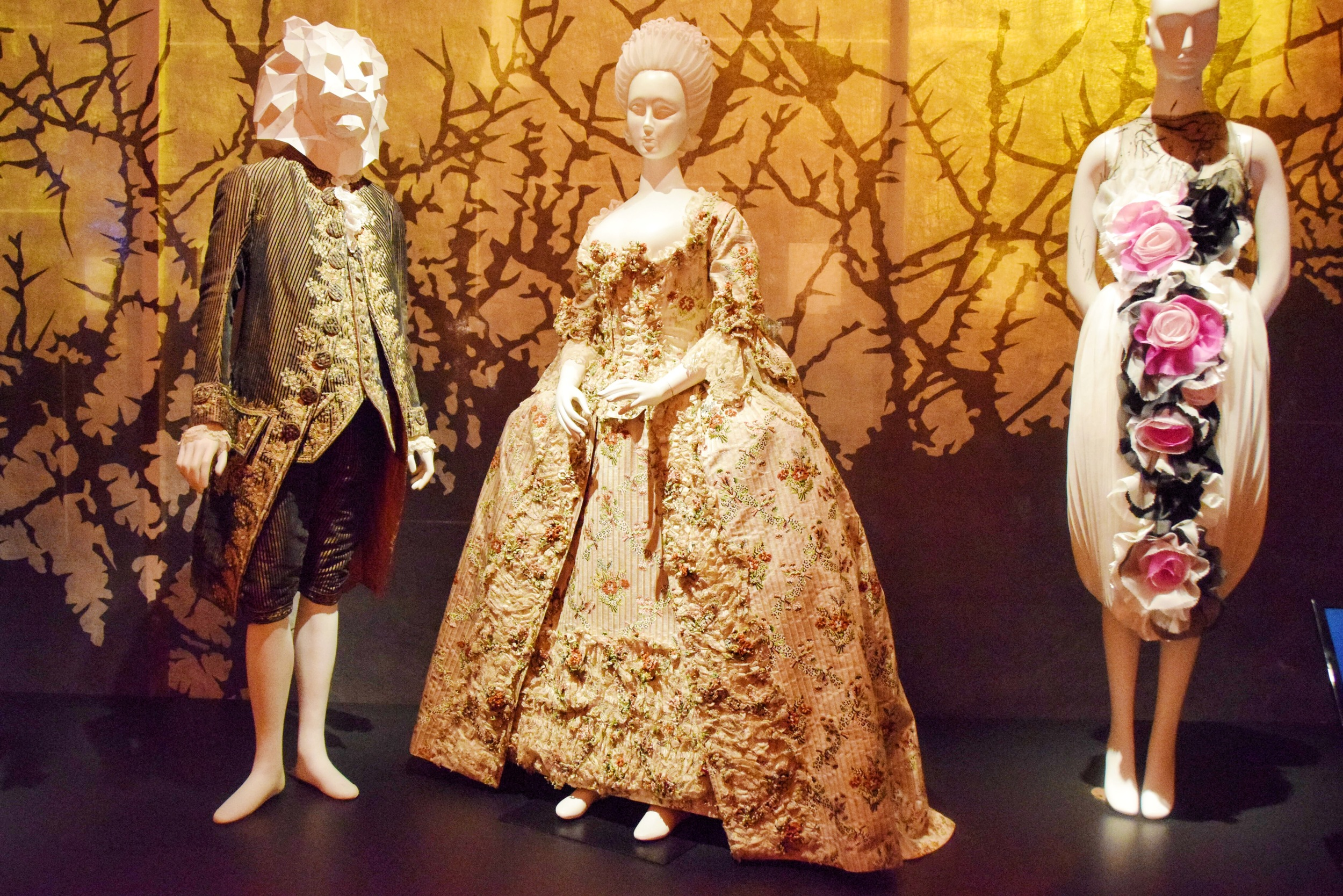 From L to R: unknown, Court dress (1755), Rodarte (2007)