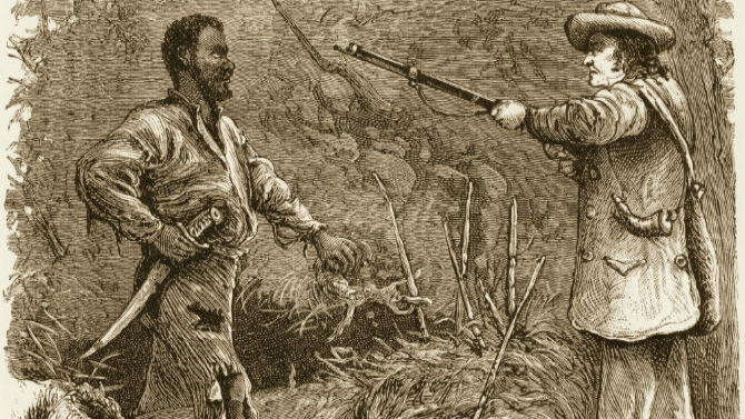 Nat Turner is discovered in a wooded area of Virginia by a white man carrying a gun, 1831