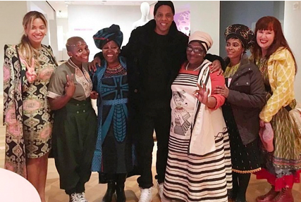 (Beyonce, Jay-Z and The Haas Sisters, 02/13/2016 | via  The Art Newspaper )