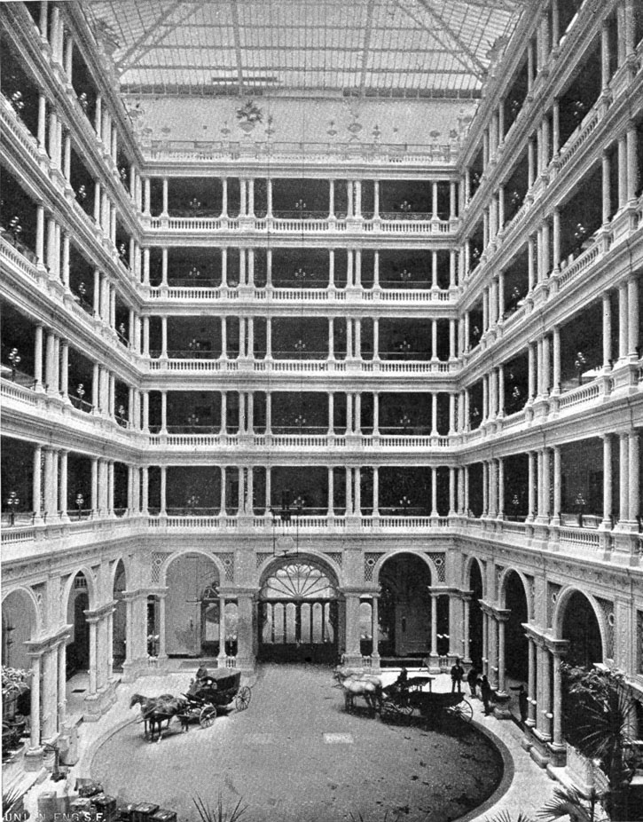 """The original """"Palm Court"""" was a carriage entrance for guests."""