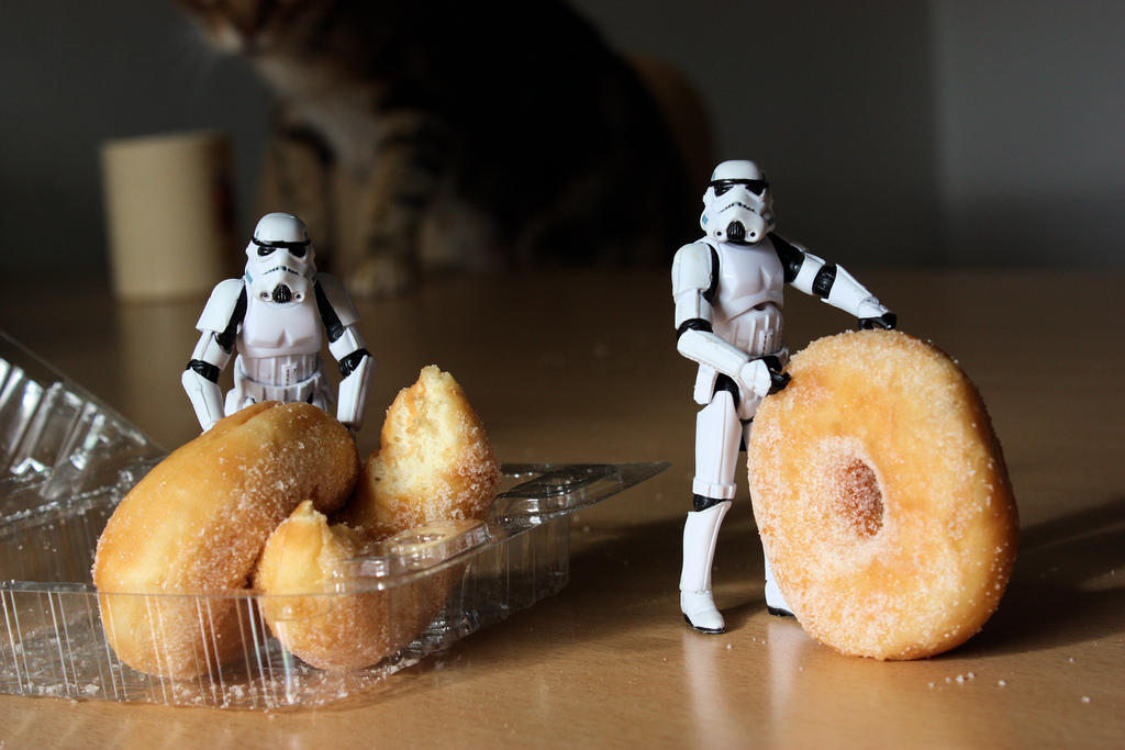 """""""Sir, are these the donuts you are looking for?"""""""