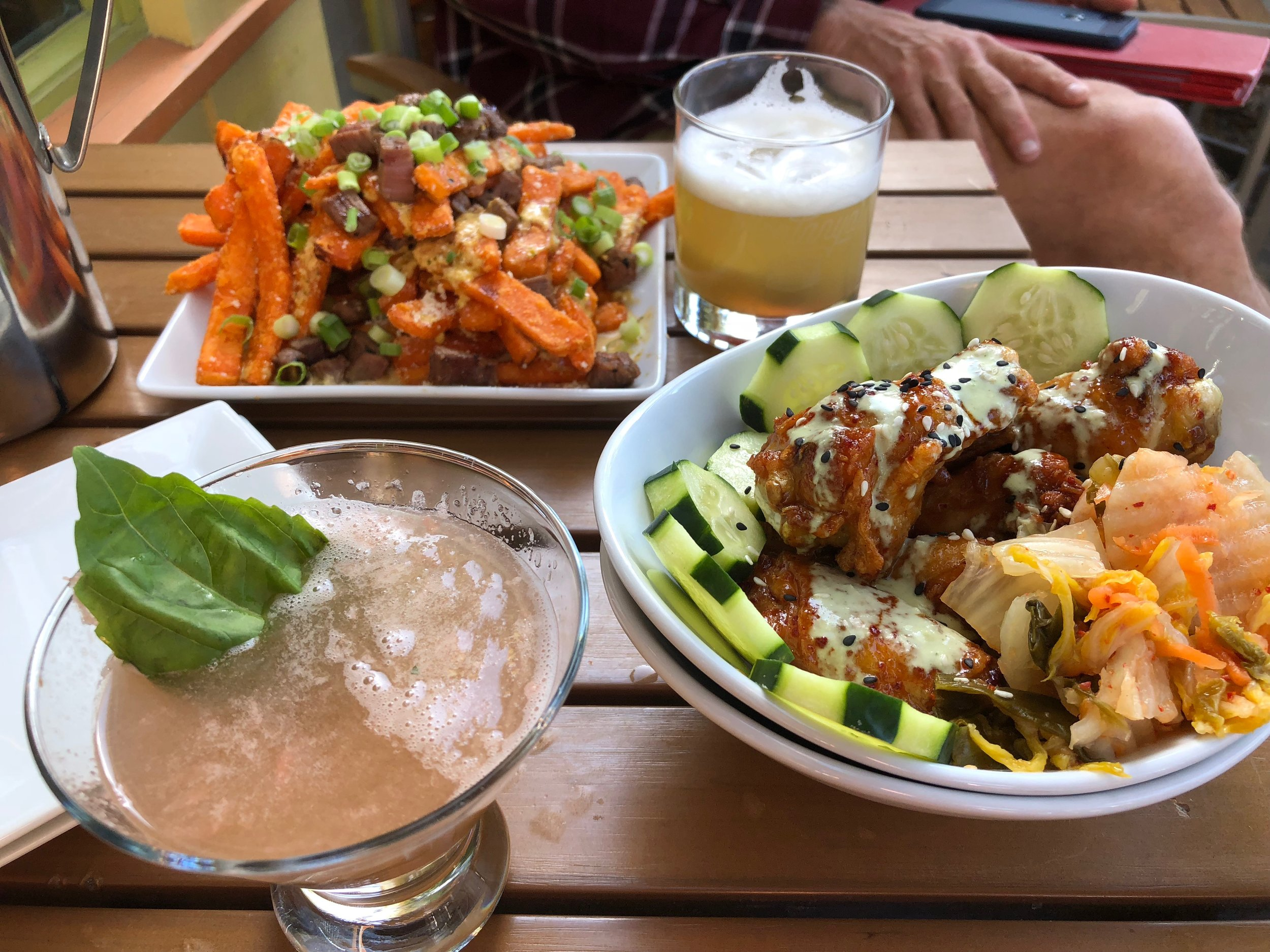 Korean Wings and Animal Fries