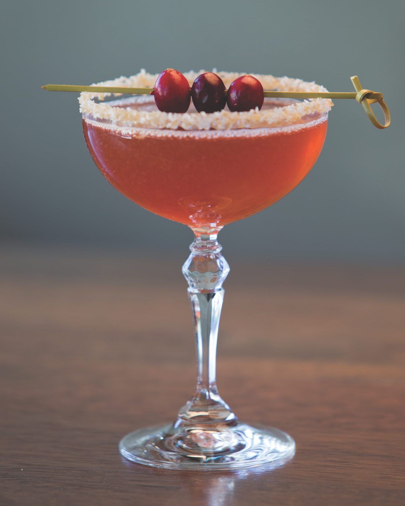 Montanya's Scarlett O'Hara in a coupe glass.
