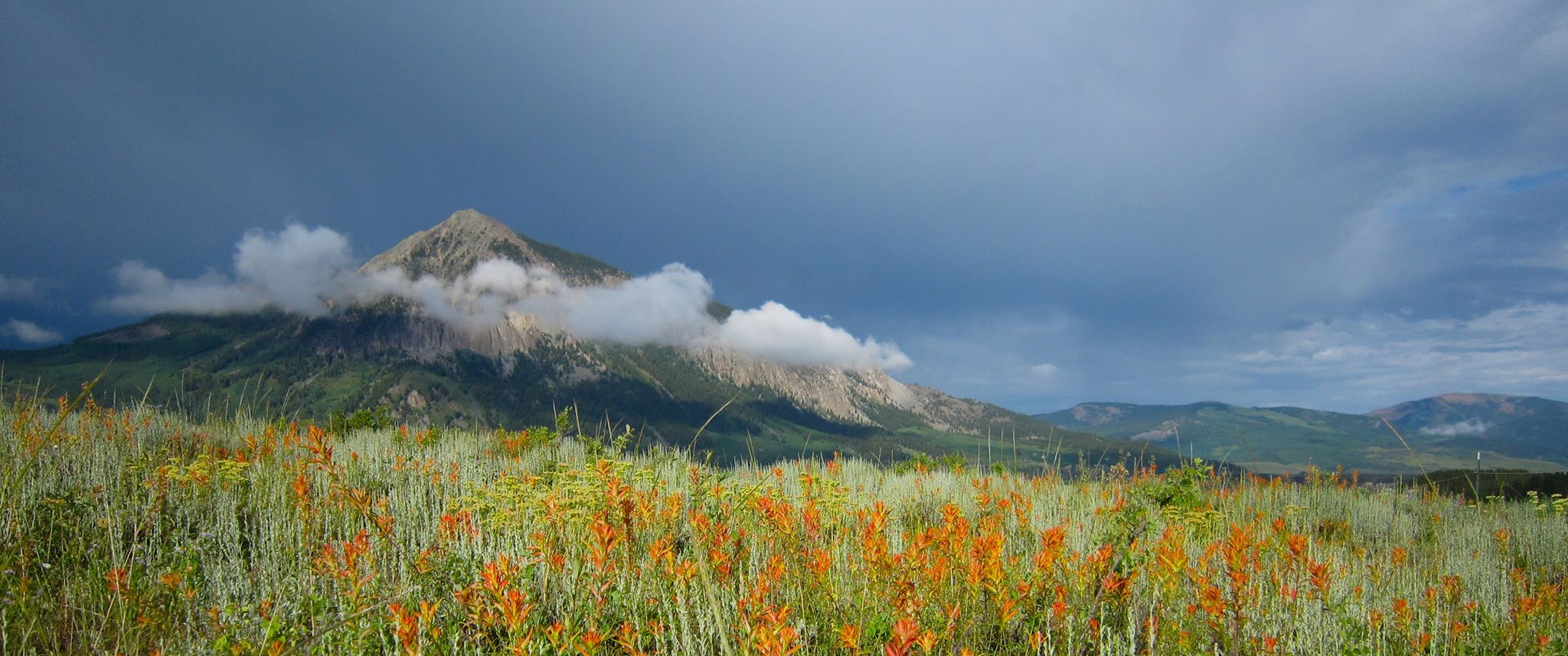 Crested Butte Mountain, which sits over the town of Crested Butte.