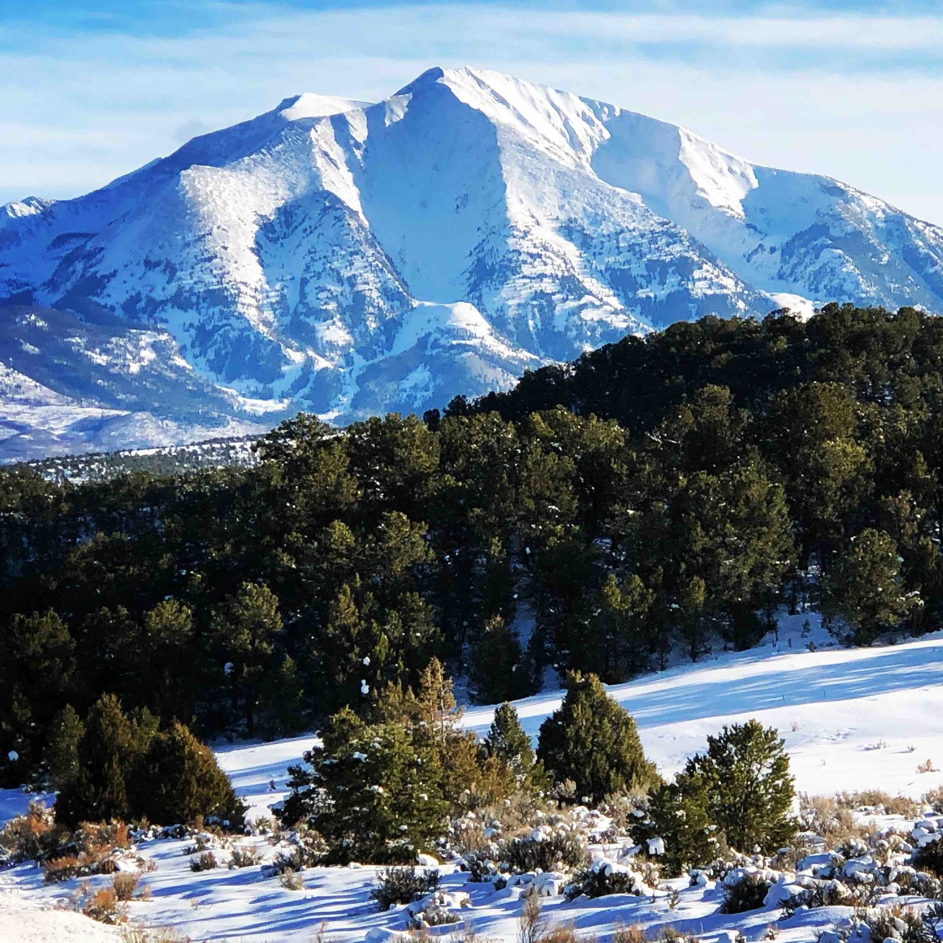View of Mt. Sopris from Spring Gulch Nordic Center