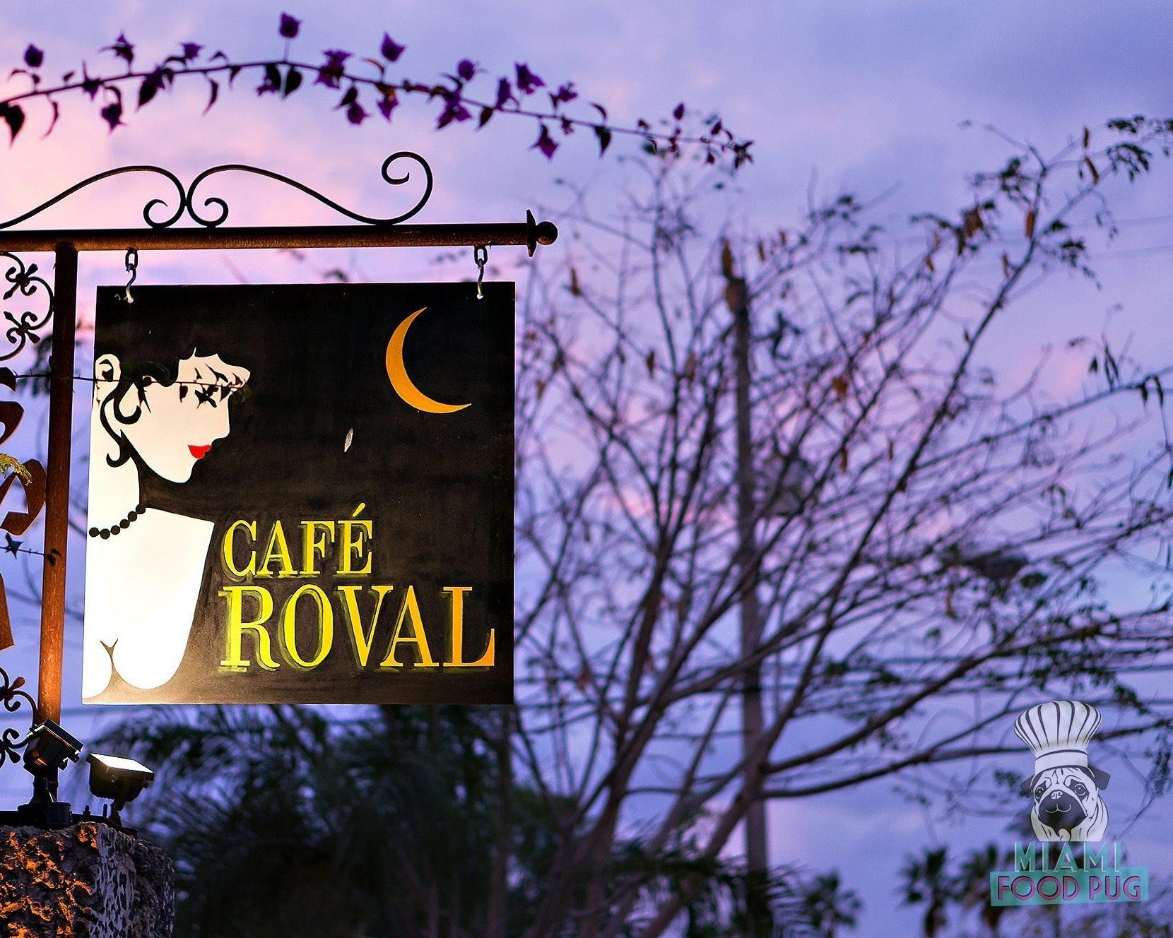 A favorite nighttime spot, Café Roval.