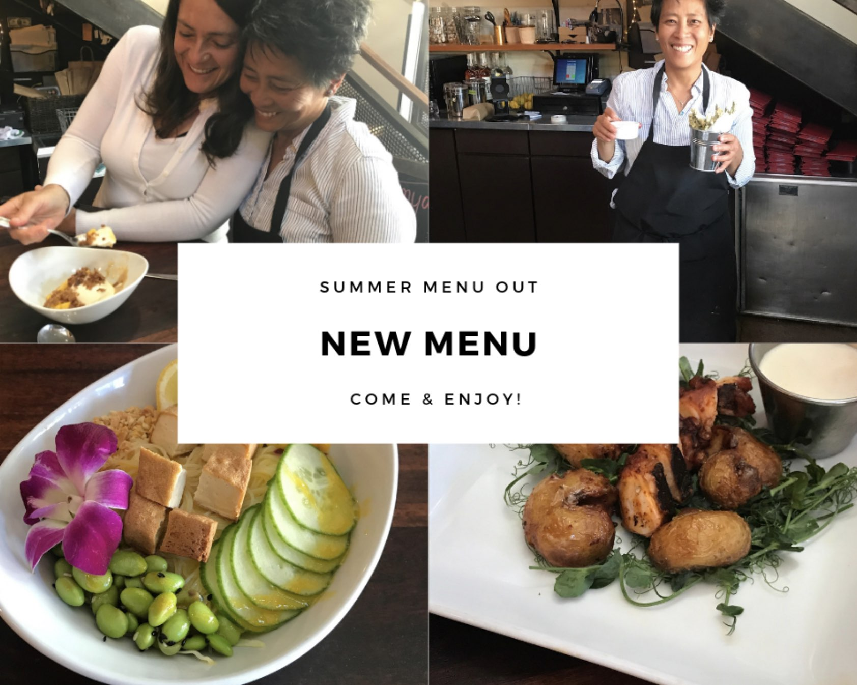 The Summer 2019 Cocktail and Food Menu is here!  Check them out and come visit.