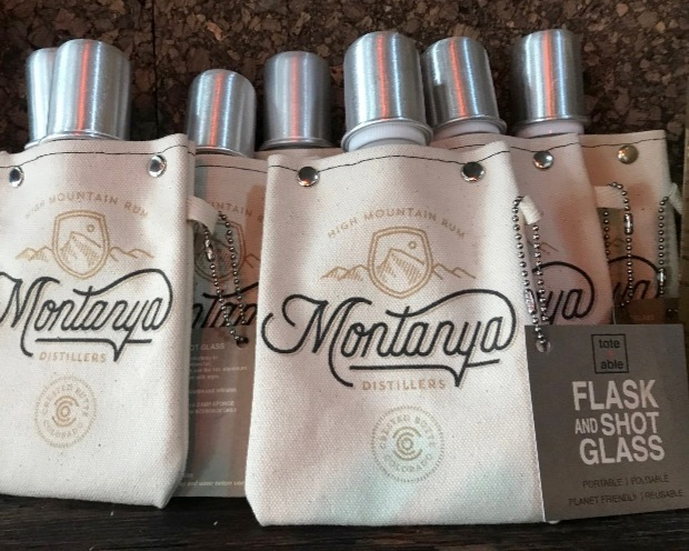 Carry your Montanya rums in a canvas flask for easy availability. Available in our  online merchandise store !
