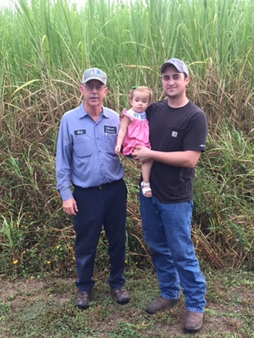 - Three generations of Thibauts on the Louisiana plantation.