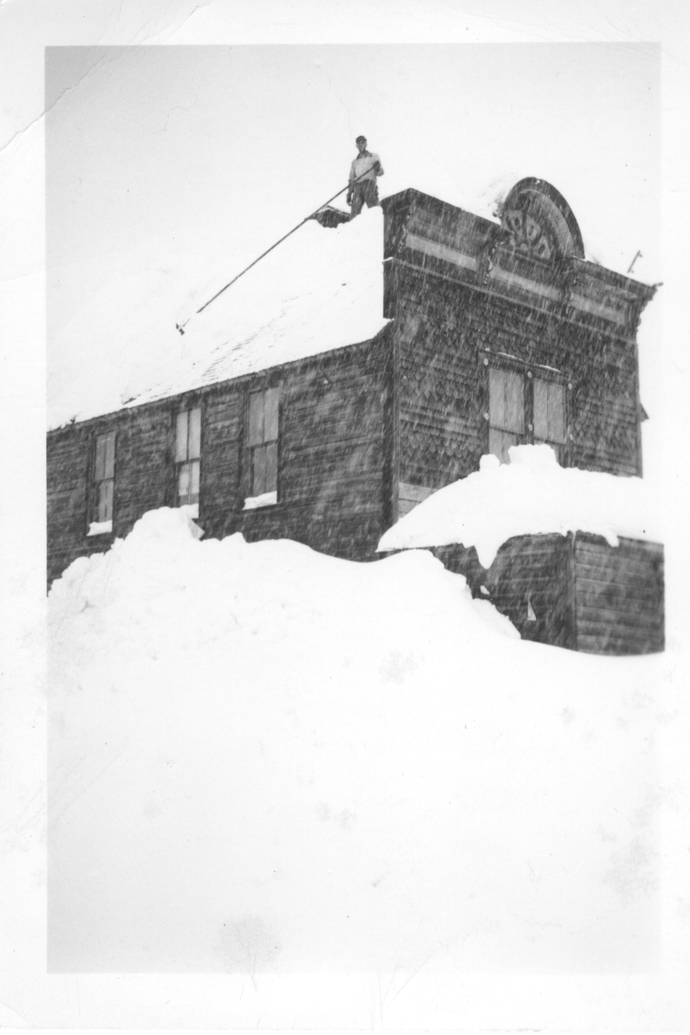 - In this photo of Crested Butte, taken while the mines were still active, snow obscures the windows of the first floor. Isabel and her family often had similar conditions during winter, when they had to look out the second floor window to see if the sun was shining. Image provided by the Crested Butte Mountain Heritage Museum.