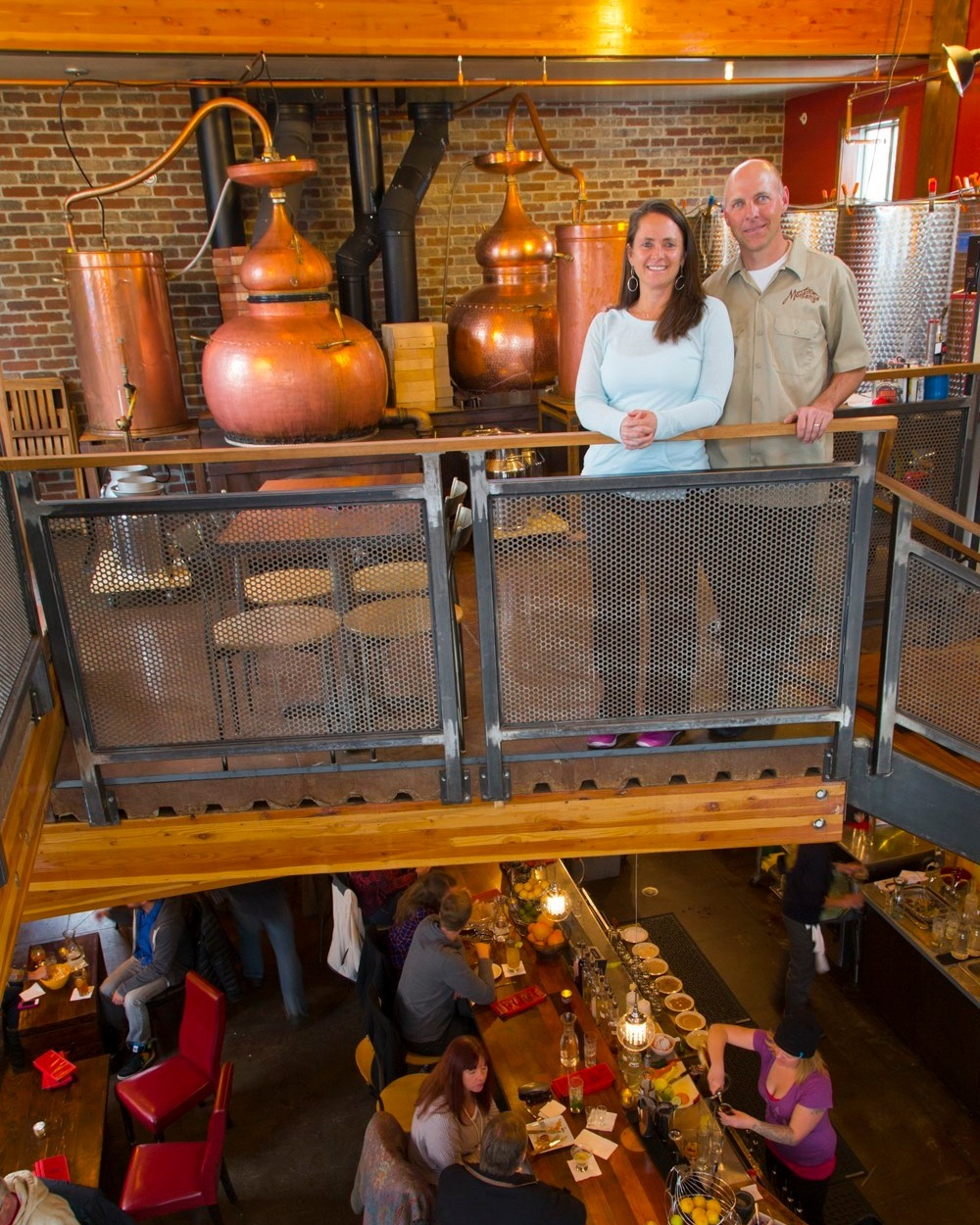 Brice and Karen in the current Crested Butte Tasting Room and Distillery.