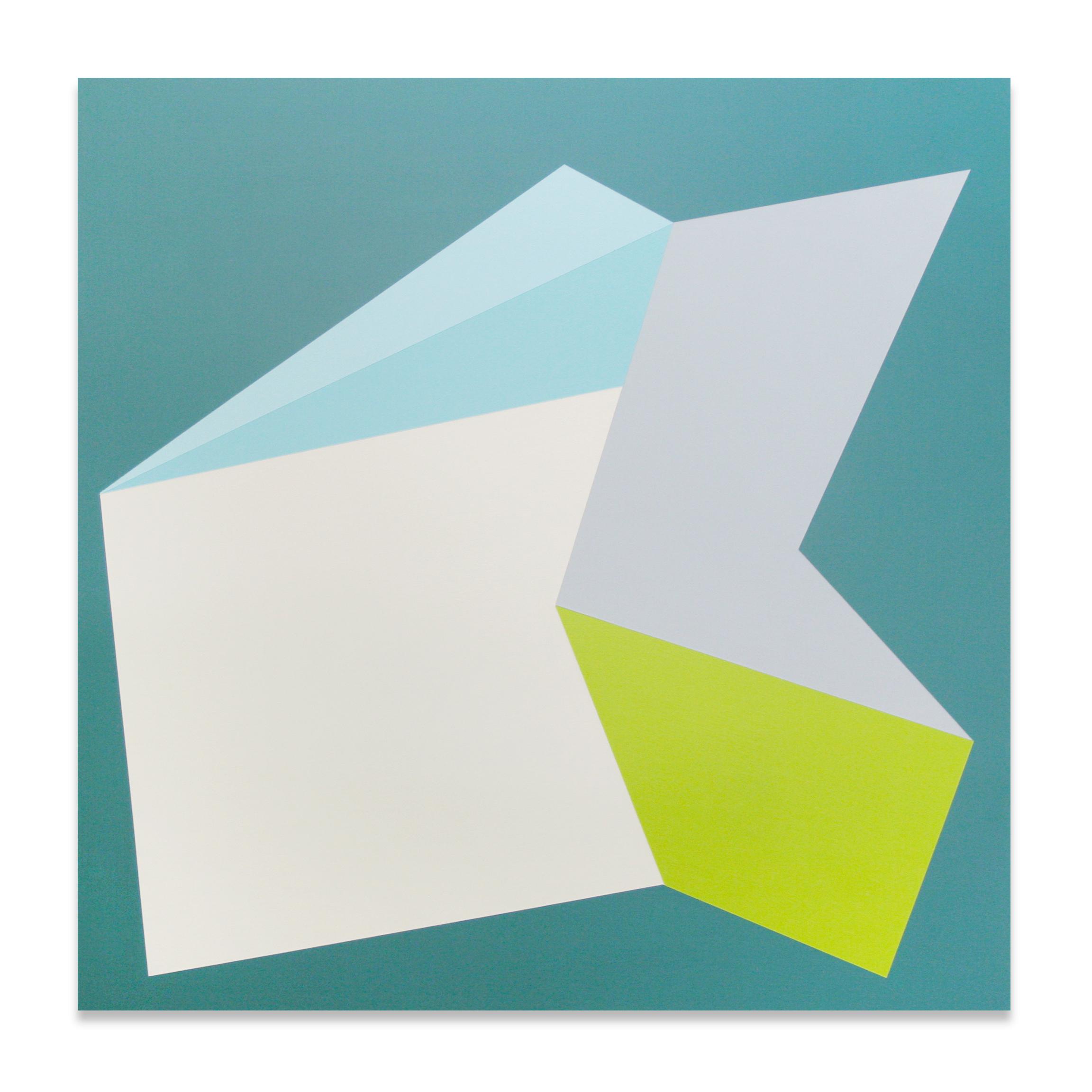 """Zoom , 23""""x23"""", acrylic paint on panel, 2013"""