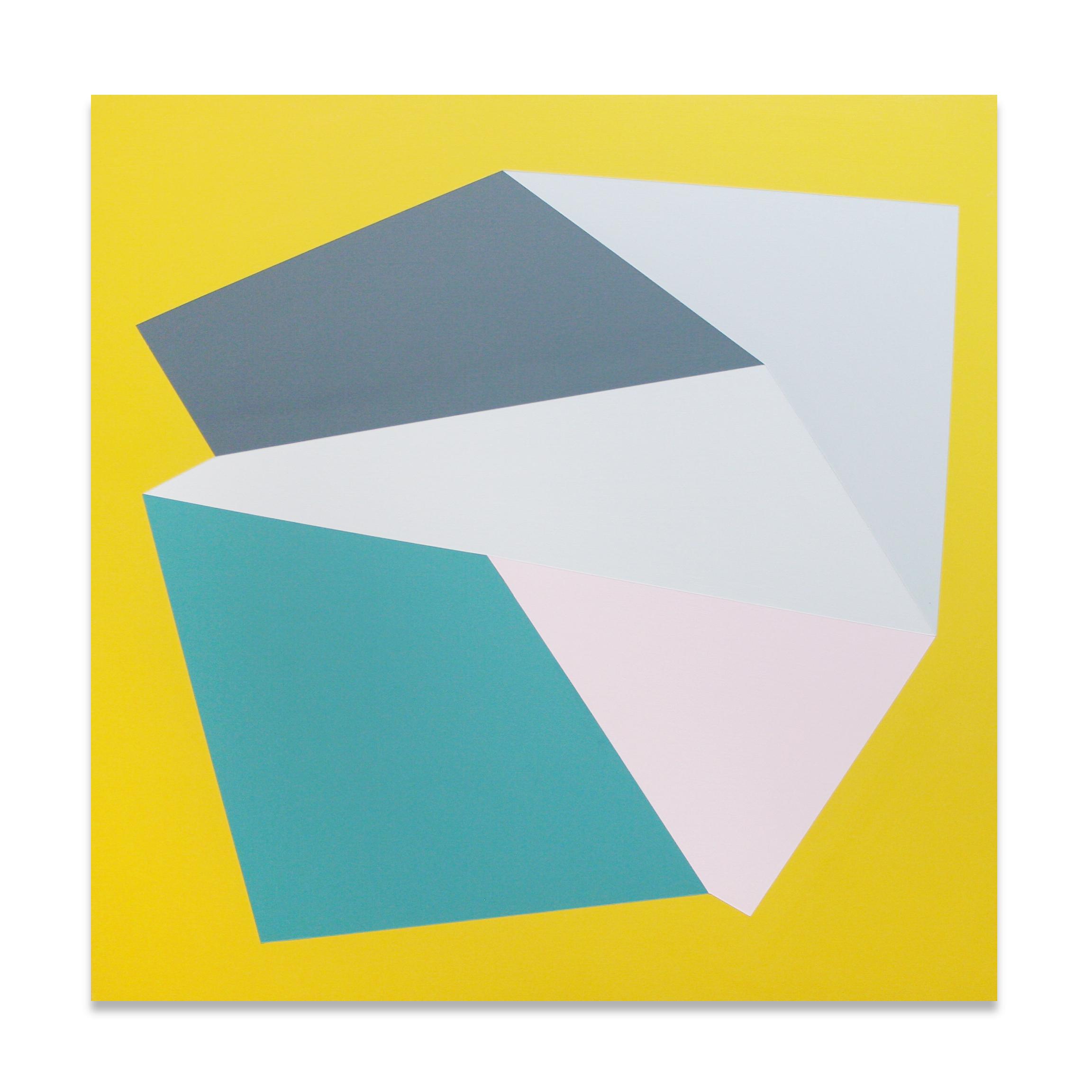 """Lid , 23""""x23"""", acrylic paint on panel, 2013"""