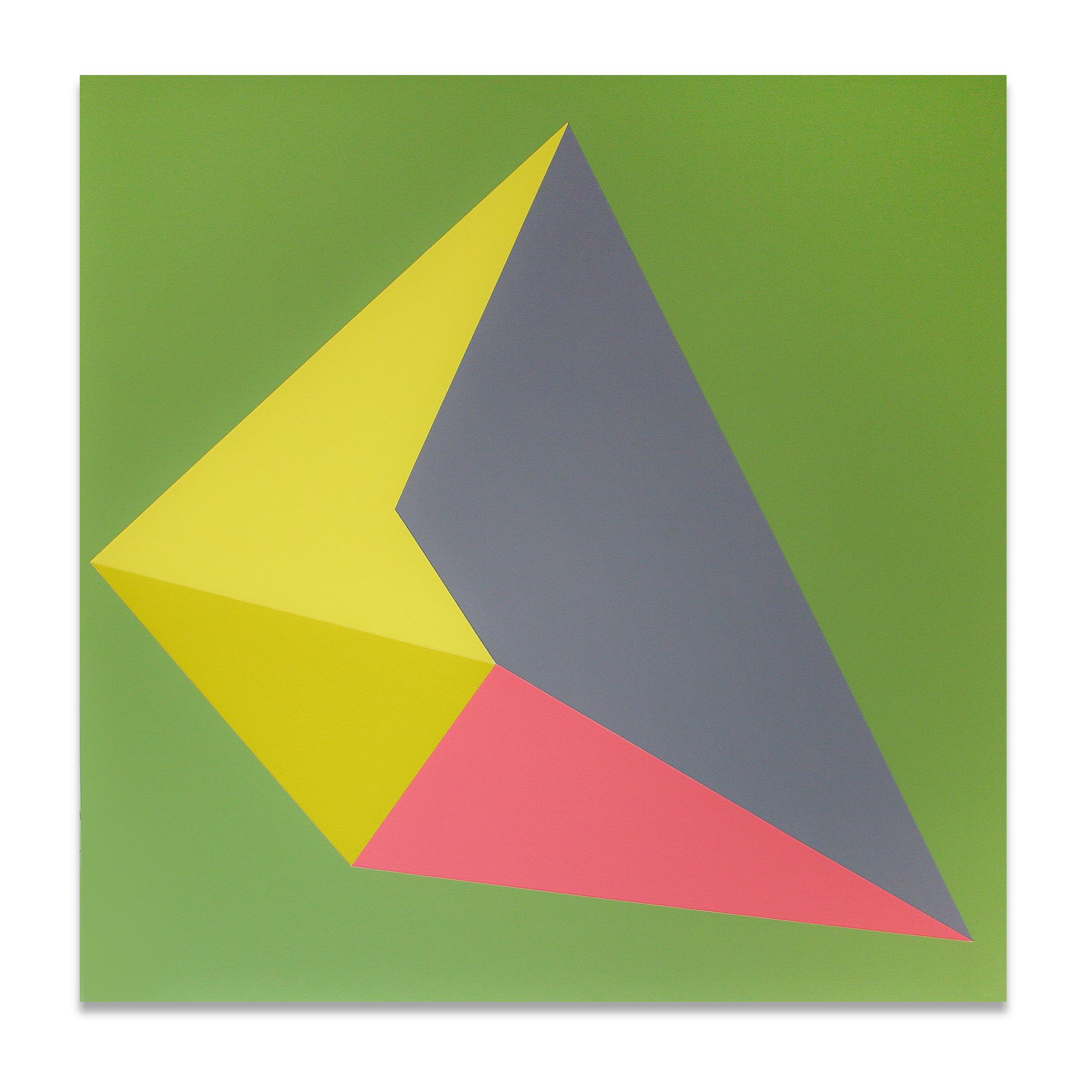 "Picca , 23""x23"", acrylic paint on panel, 2013"