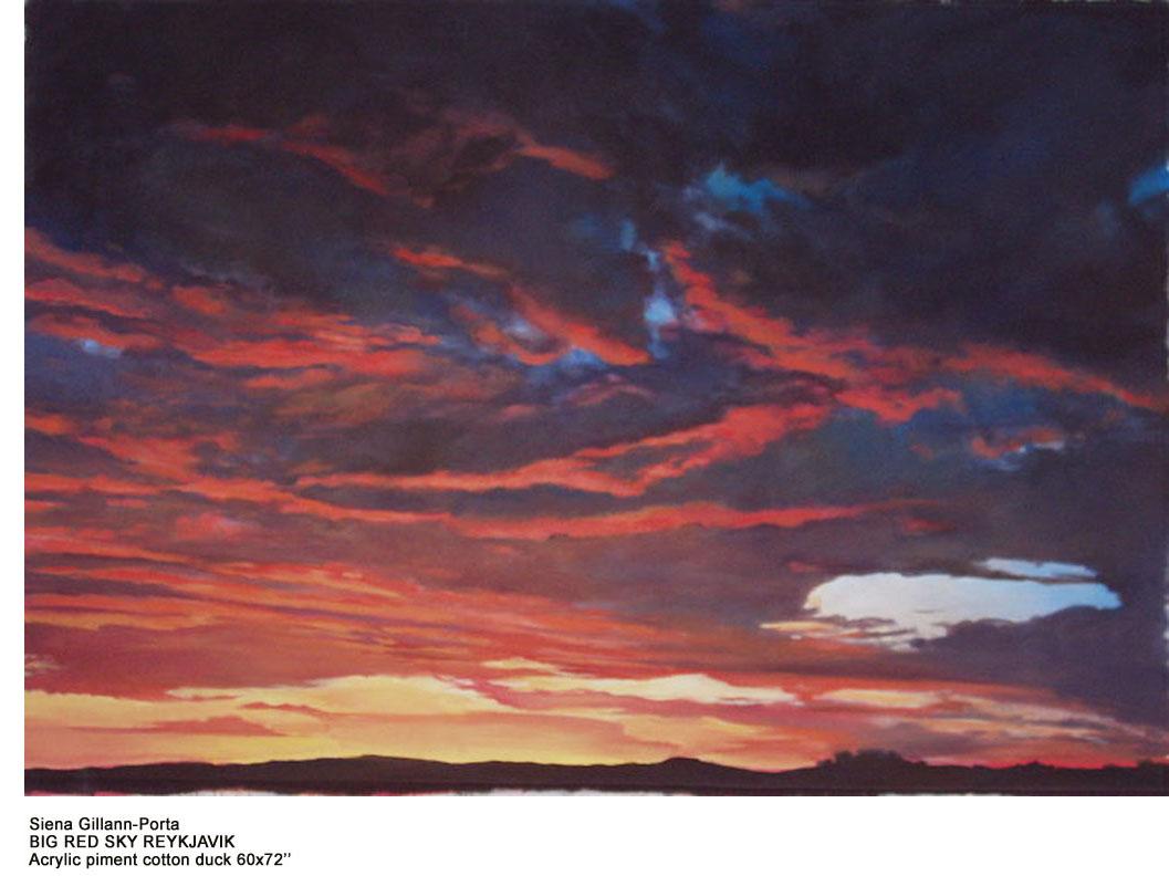 Siena Gillann-Porta_3_BIG RED SKY REYKJAVIK_Acryli piment-Cotton duck_60x72.jpg