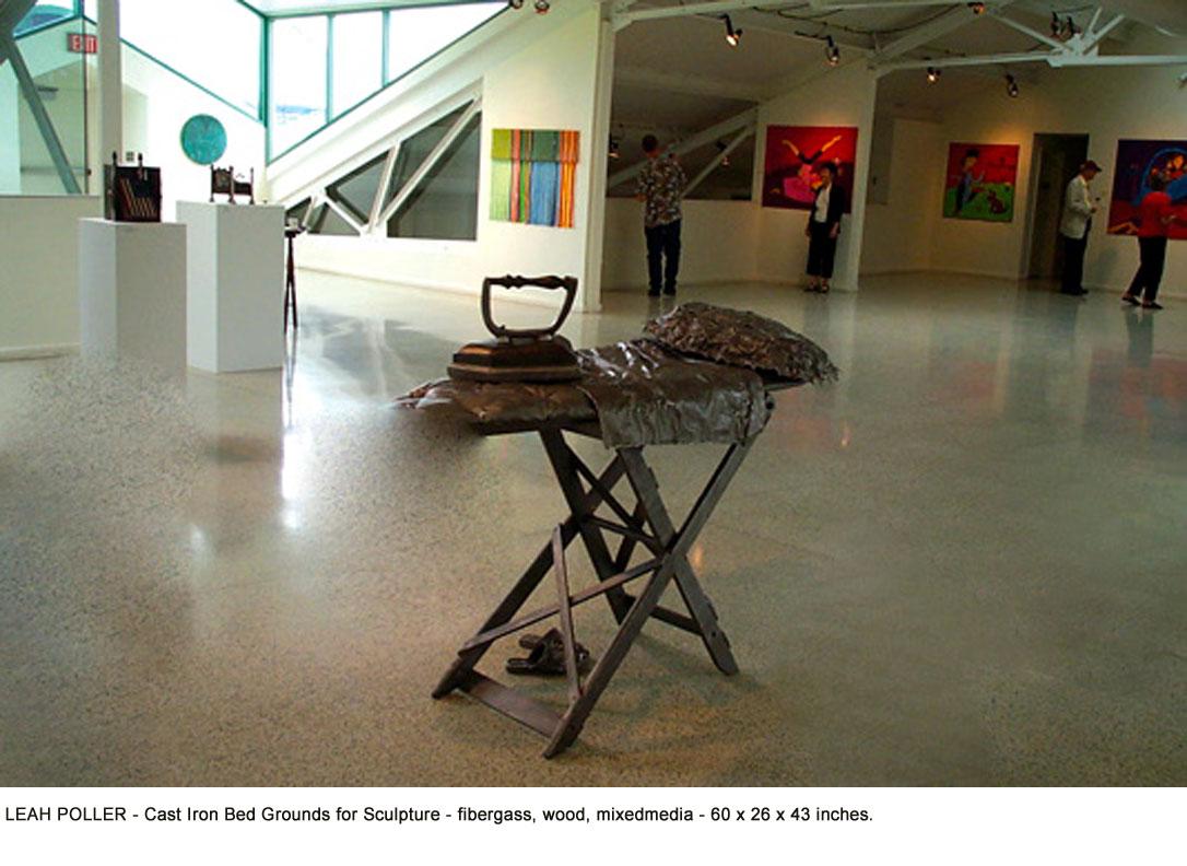 Leah-Poller_4_Cast Iron Bed Grounds for Sculpture _fibergass, wood,mixedmedia_60 x 26 x 43__web.jpg