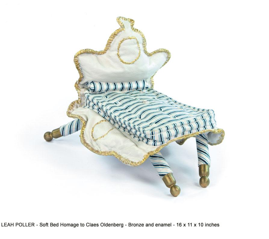 Leah-Poller_6_Soft Bed Homage to Claes Oldenberg_bronze,enamel_16 x 11 x 10_web.jpg