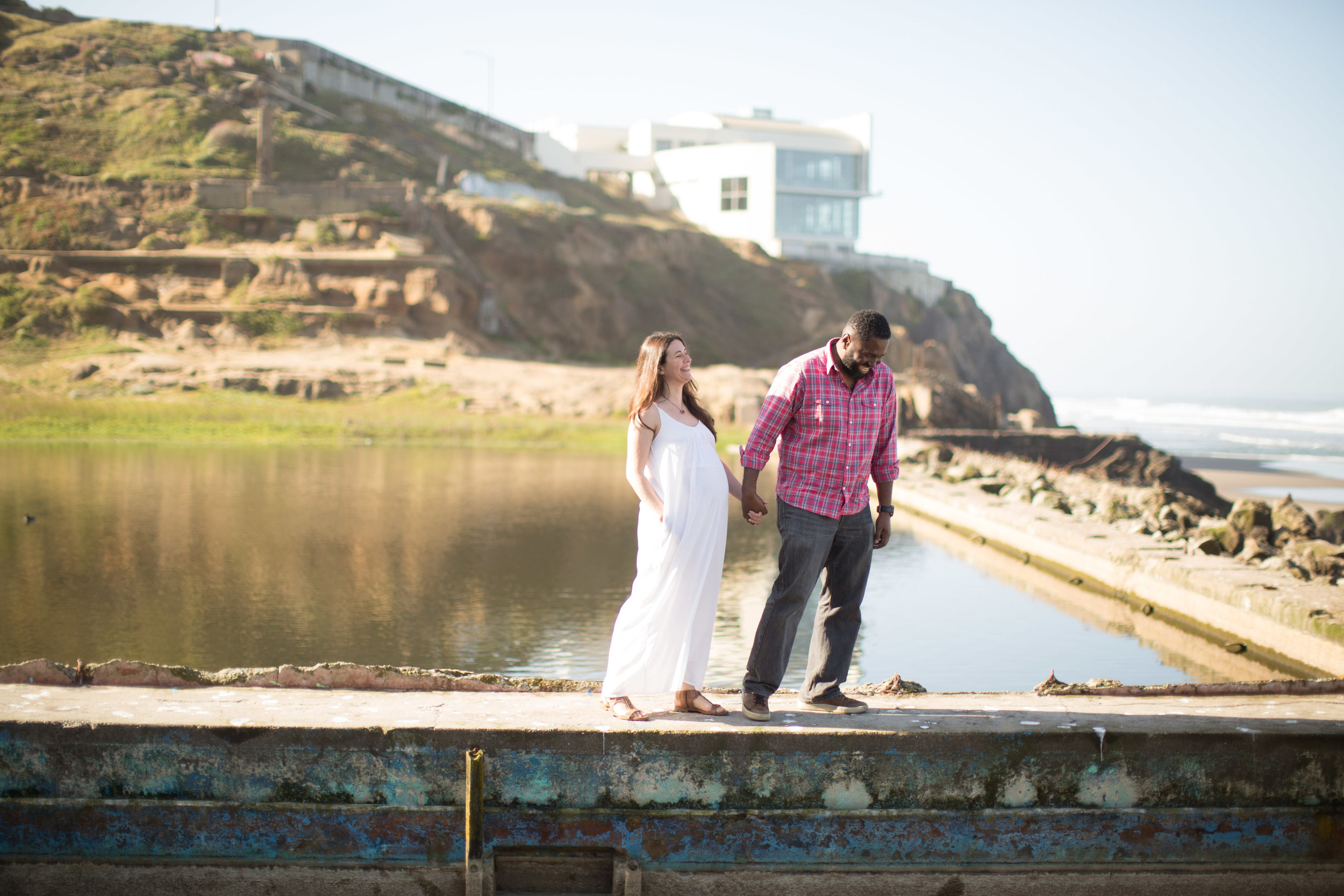 Family Portraits on the ruins of Sutro Baths