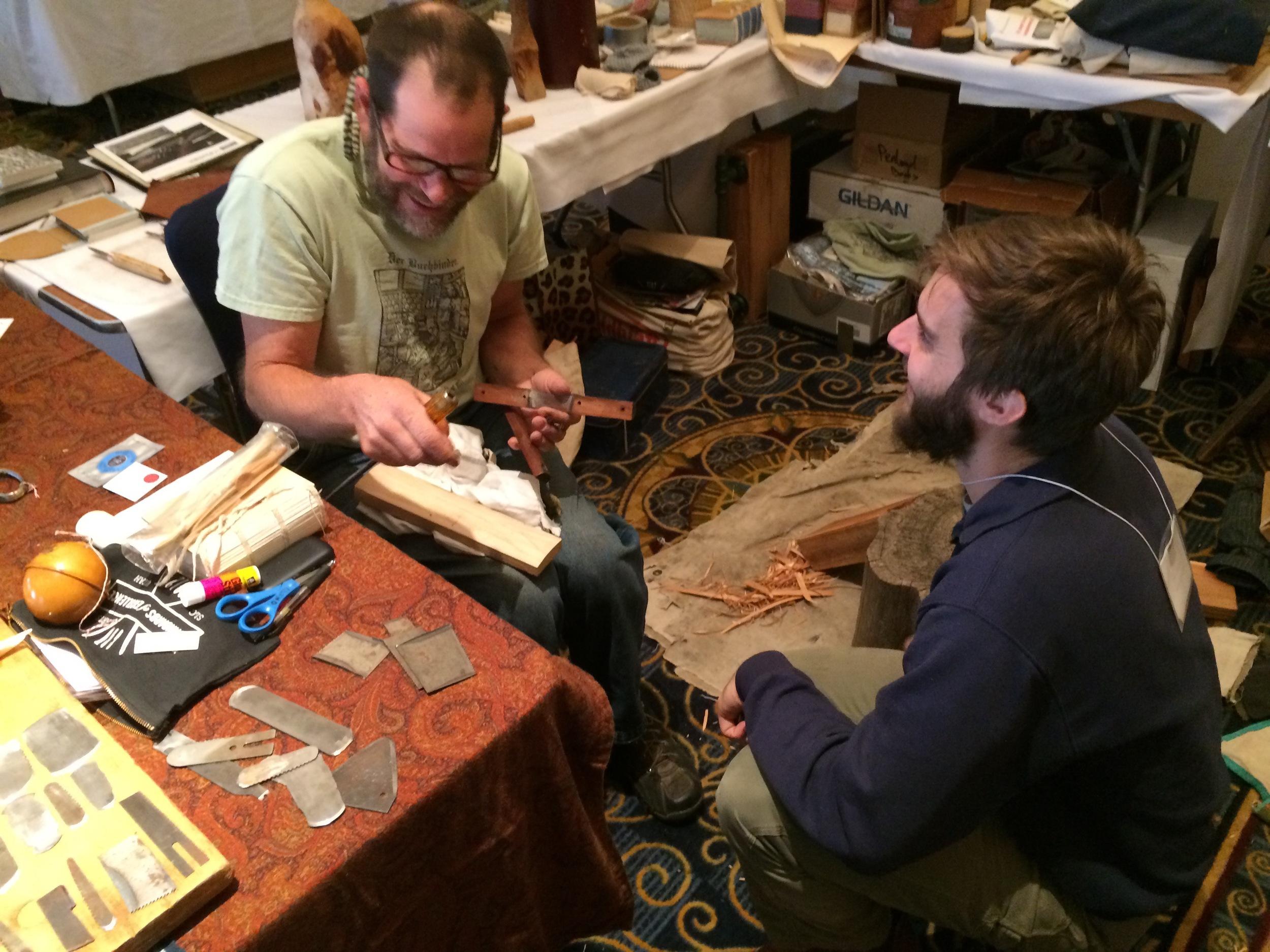 Jim Croft  &  Brien Beidler  in the Vendor Room.