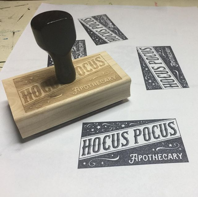 Loving the #stamp we had made for @hocuspocusbeautyboutique thanks @wanderlovepress it is perfect!