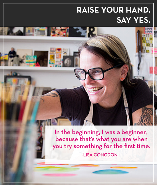 Lisa Congdon talks passion projects on the Raise Your Hand Say Yes podcast with Tiffany Han