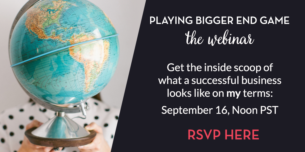 Playing Bigger End Game webinar with Tiffany Han