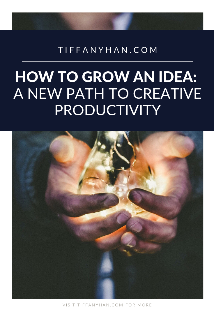 How do you grow an idea? How to you become more creative? Do normal productivity tips apply to creatives and creative ideas? Click through for insights from a creative entrepreneur who knows!