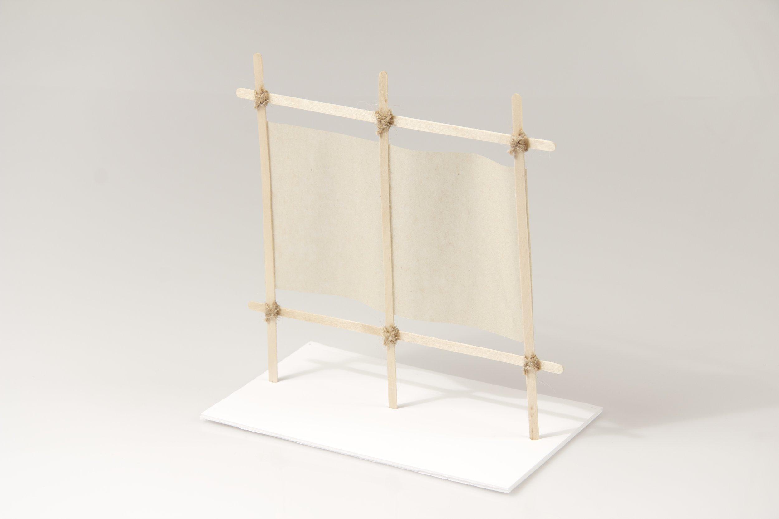 japanese screen maquettes 1 crane away rebecca howson